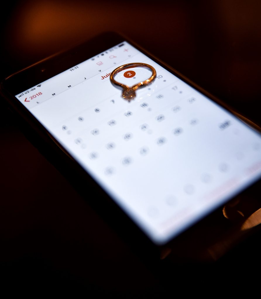 calender on a mobile phone